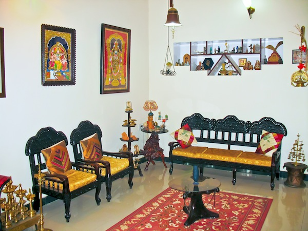 Ethnic indian home kaveri chinnappa 39 s coorg inspired home in bangalore interior design travel Home decor furnitures mangalore karnataka