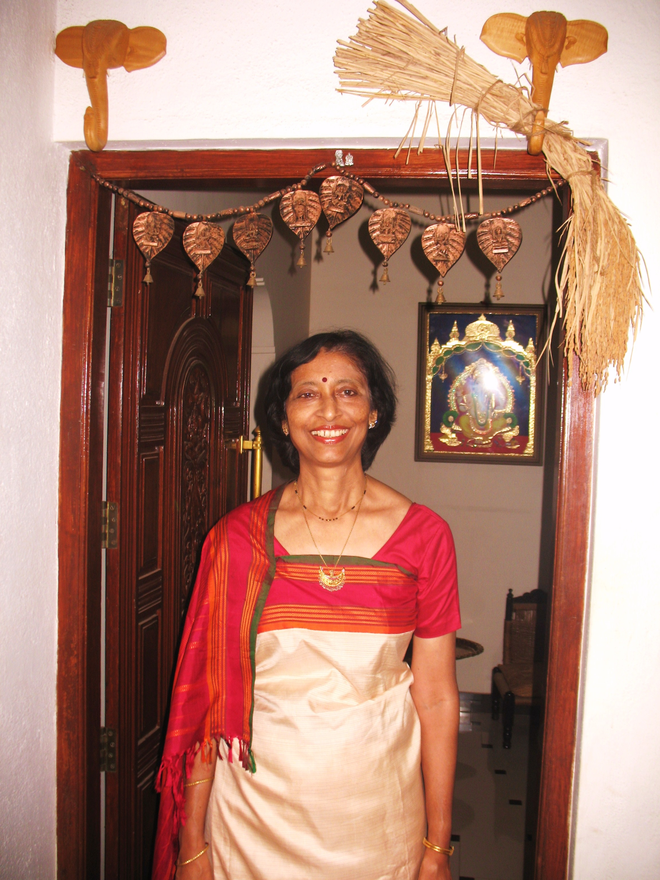 Ethnic Indian Saree For Bride: Ethnic Indian Home: Kaveri Chinnappa's Coorg Inspired Home