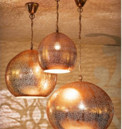 Copper Pendant Ceiling Lamp cellar door