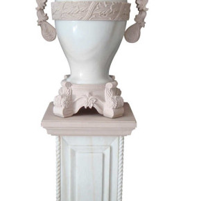 Lobby Urn Marble with Handles Patti in  Dholpur esthetix