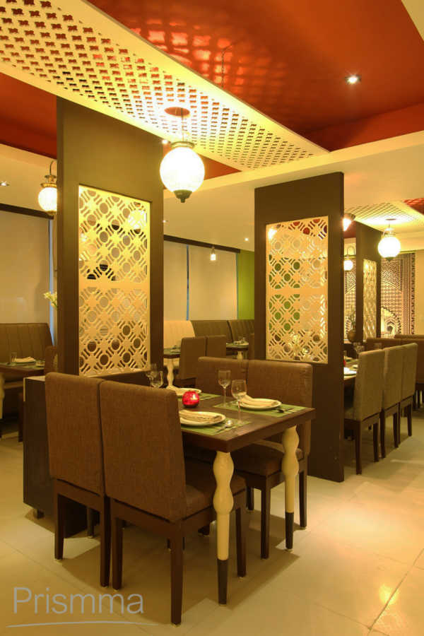Restaurant Design Shaam E Avadh Baroda Pomegranate Design