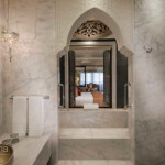Bathroom: Marble flooring
