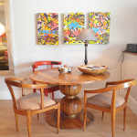 Dining table: Round dining tables