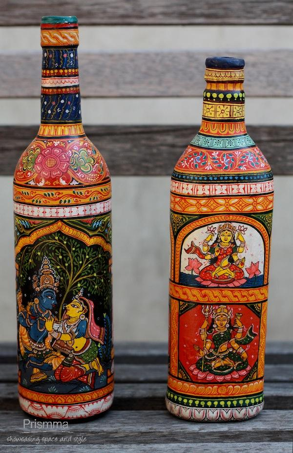 hand painted bottles swati54