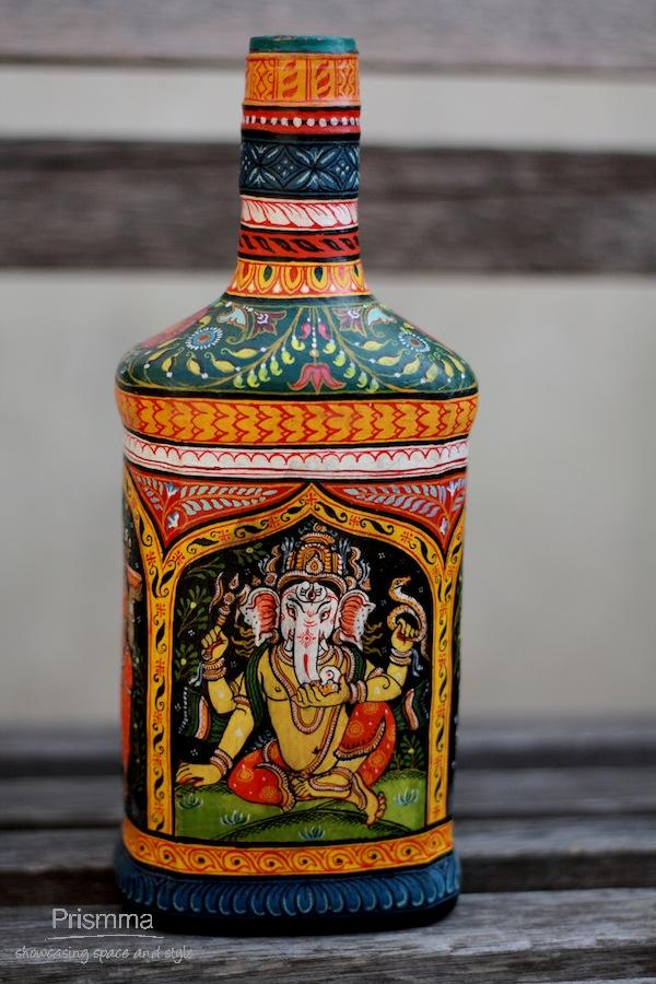 hand painted bottles swati55