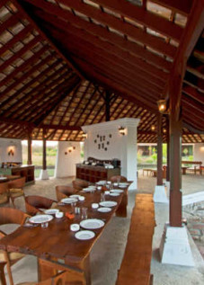 restaurant rafters design teak house - 008