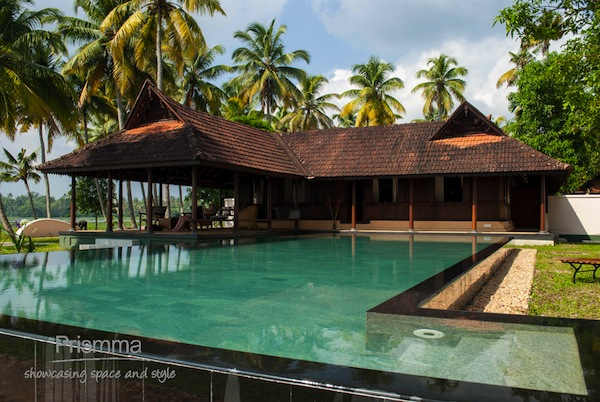 traditional kerala house vismaya villa by amritara house with terrace swimming pool kerala home design and