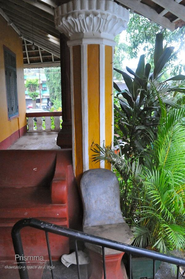 traditional goan concrete seating Chandan goa8